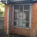 aluminium double glazing church window 1 before