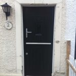 Black stable rock door
